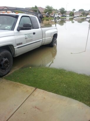 Jose Duarte of Coachella says his entire street has been flooded since Sunday afternoon.