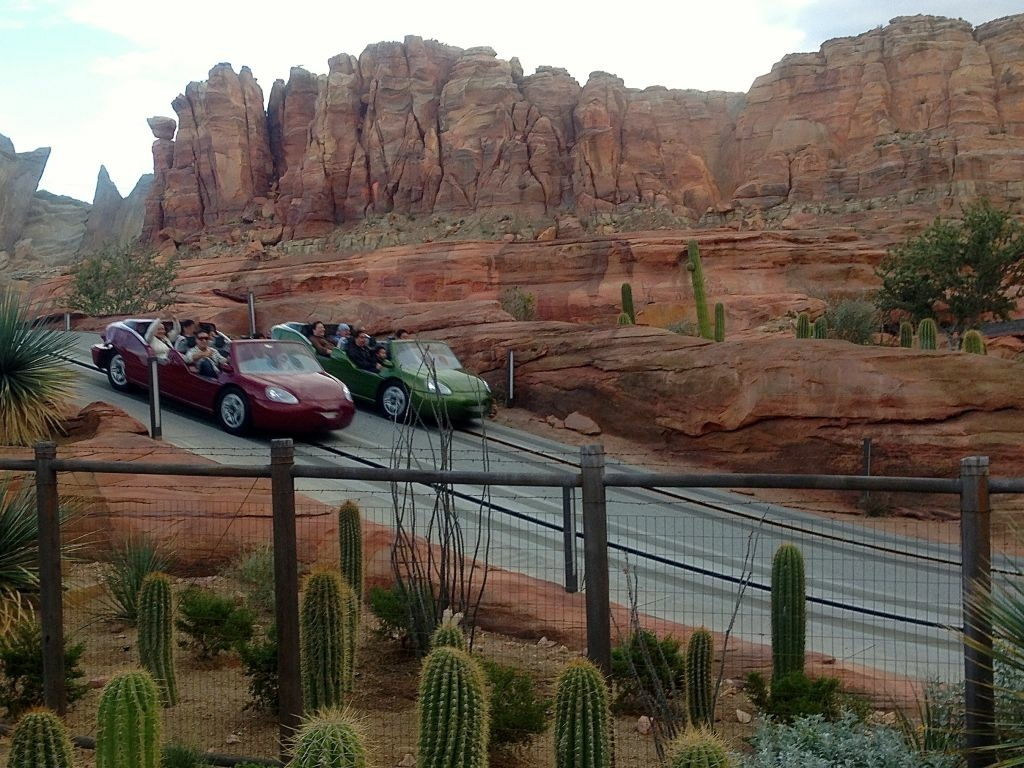 Radiator Springs Racers, part of a recent $1.1 billion dollar four-year expansion at Disney California Adventure, takes about 150 employees to operate.