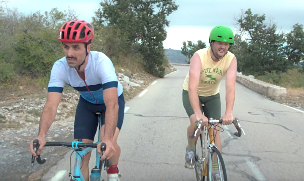 """The Climb"" is about best friends who have a life-altering conversation while riding bikes up a mountain in France."