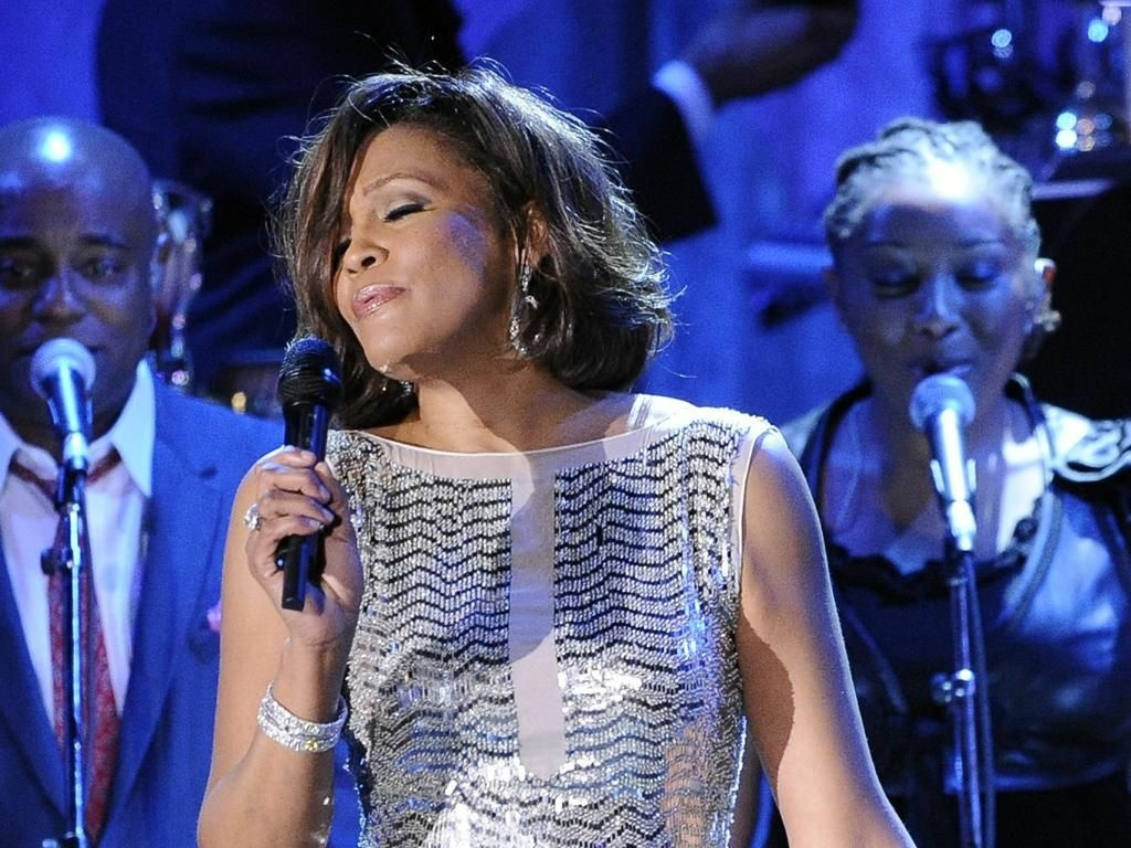 Whitney Houston performs at the pre-Grammy gala on Feb. 13, 2011 in Beverly Hills, Calif.