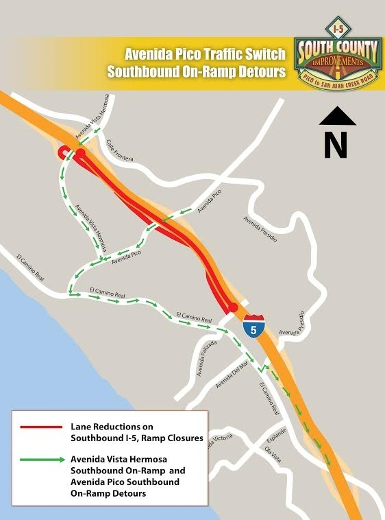 Detours for Southbound drivers.
