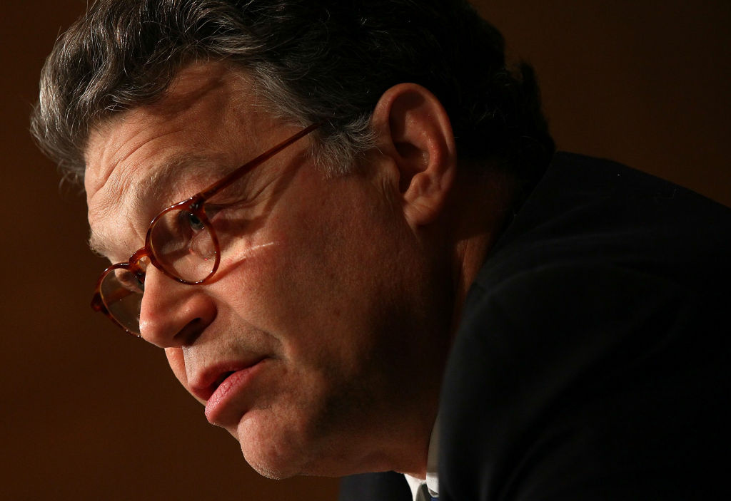 Sen. Al Franken (D-MN) appears in this July 22, 2010 file photo from a meeting of the Senate Health, Education, Labor and Pensions Committee. Franken has been accused of forcibly kissing and groping a California radio anchor.