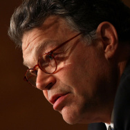 Sen. Al Franken (D-MN) questions Steve Flynn, Vice President of Health, Safety, Security and Environment at BP during his testimony before the  Senate Health, Education, Labor and Pensions Committee July 22, 2010 in Washington, DC.