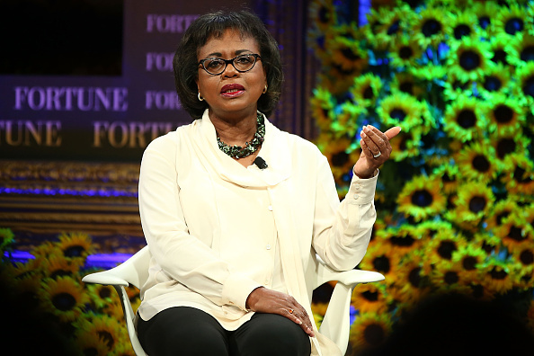 Anita Hill speaks onstage at the Fortune Most Powerful Women Summit 2016 on October 19, 2016 in Dana Point, California.