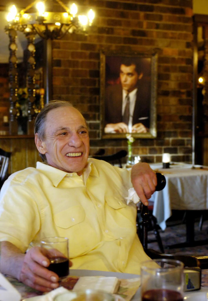 Henry Hill sits in the dining room of the Firefly restaurant in North Platte, Neb., Tuesday, Feb. 22, 2005. The exploits of Hill, who sought refuge in the witness protection program after agreeing to testify against his former mob bosses from New York, were the basis for the book