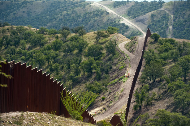 View of the border fence between Mexico and the U.S., in Nogales, Sonora, Mexico, on July 29, 2010.