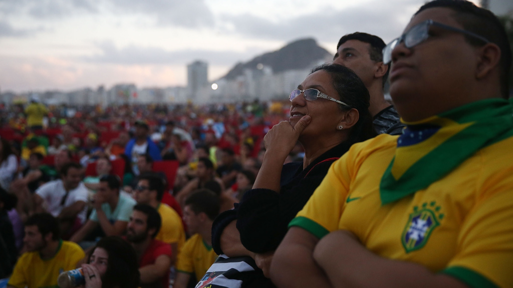 Brazil fans on Copacabana Beach were subdued during the third-place game against the Netherlands on Saturday. The national team gave them little to cheer about.