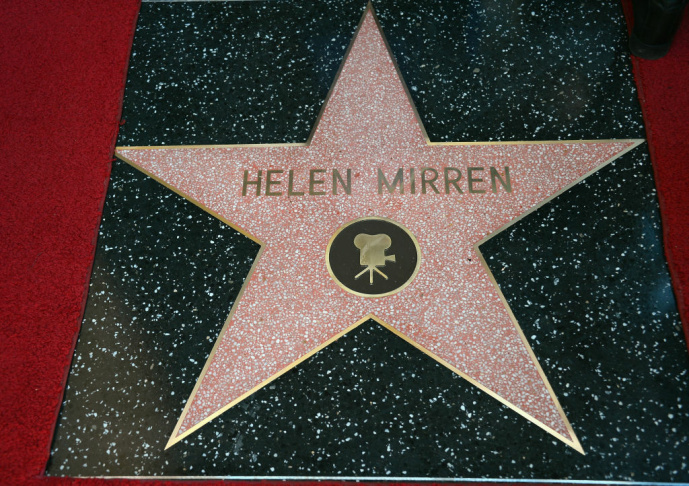 Helen Mirren was honored on the Hollywood Walk of Fame on Jan. 3, 2013, in Hollywood, Calif. (Joe Klamar/AFP/Getty Images)