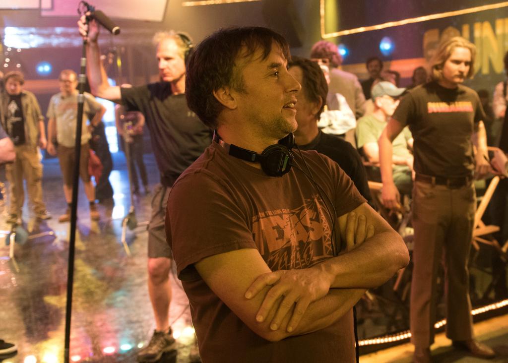 Filmmaker Richard Linklater on the set of