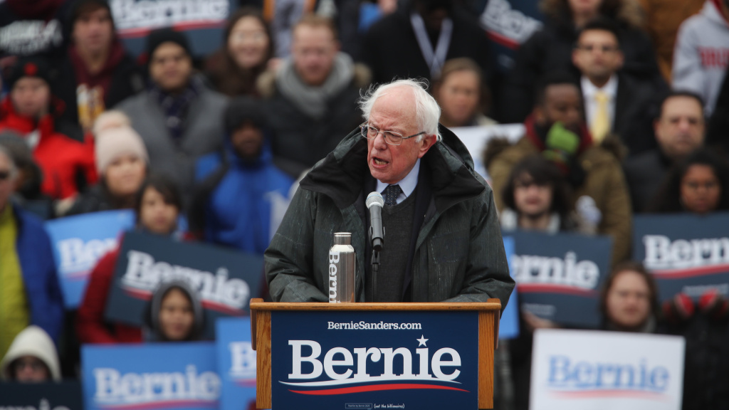 Sen. Bernie Sanders, I-Vt., has signed a pledge that he will govern as a Democrat if he is elected president in 2020.
