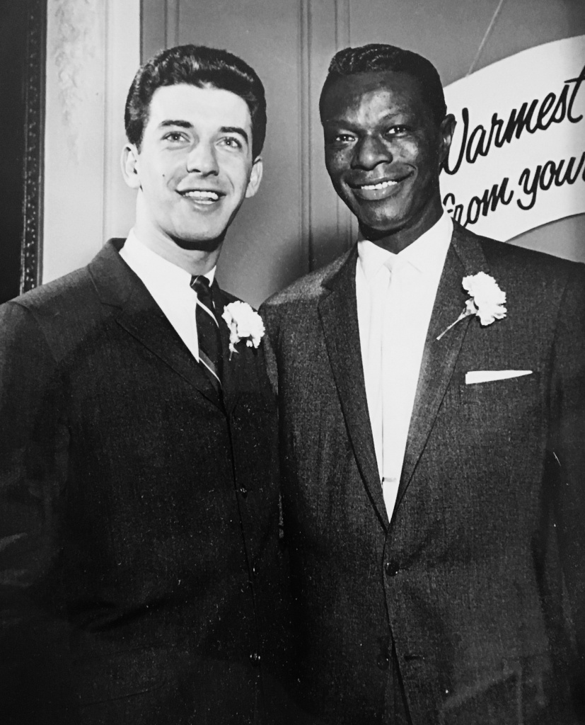 Roy Battocchio with Nat King Cole, during the period of his life when he Artist Relations Manager for Capitol and RCA.