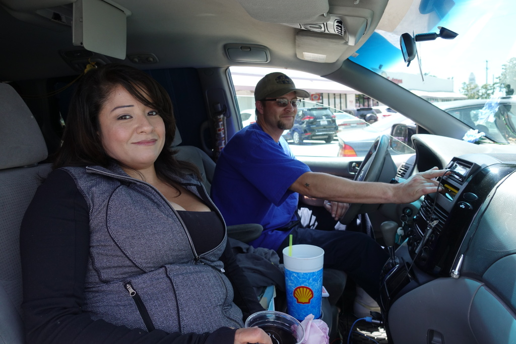 Angela Del Castillo and Army veteran Adam John Halvorsen have been living in her van for close to a year.