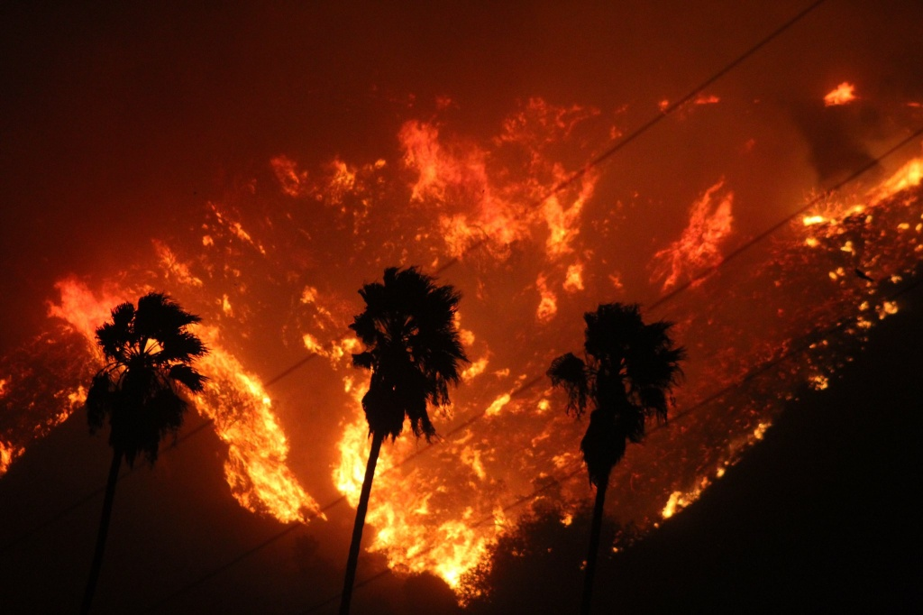 The Thomas Fire broke out Monday near Santa Paula and grew wildly to more than 48 square miles in the hours that followed, burning at least 150 structures. More than 27,000 people have been evacuated.