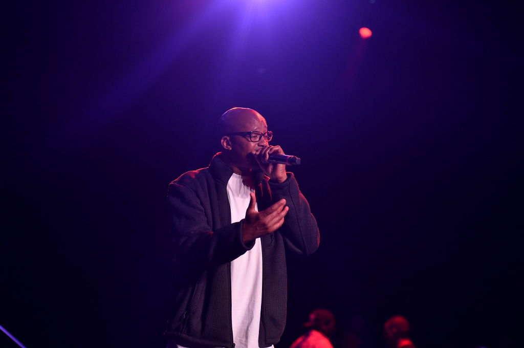 Rapper Warren G performs on stage at the premiere of