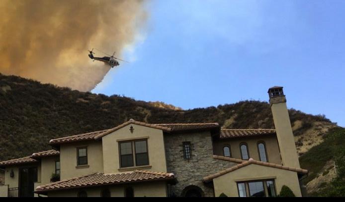 Slideshow: Sage Fire near Santa Clarita burns