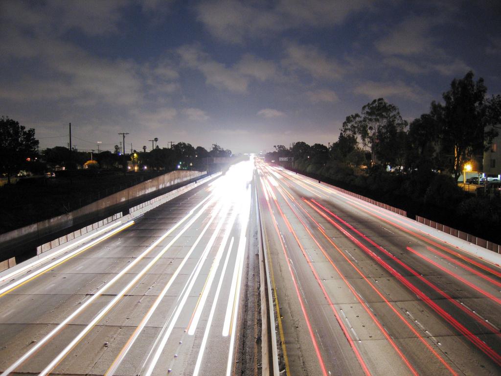 The 405 Freeway, Los Angeles.