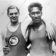 Johnny Weismuller and Duke Kahanamoku, c. 1925.