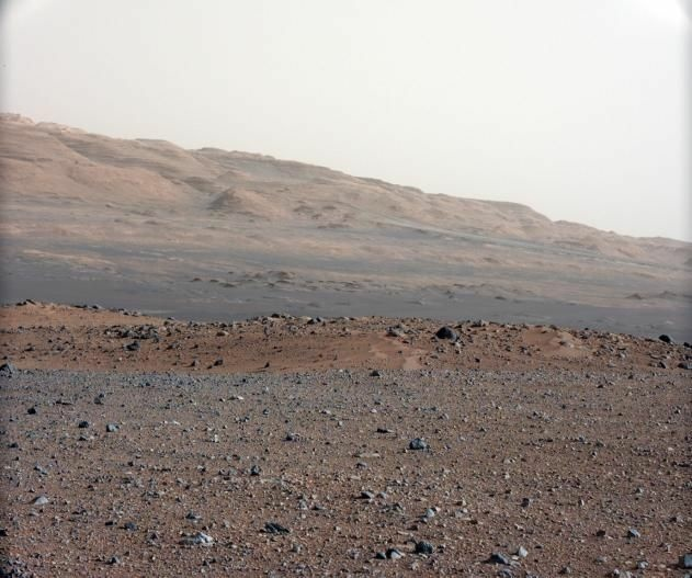 What a swale looks like — on Mars.