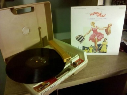 My $5 Fisher Price record player (left) can still play The Sound of Music soundtrack (right) quite well.