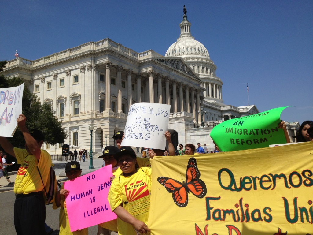 Advocates rally for immigration reform outside the US Capitol this spring