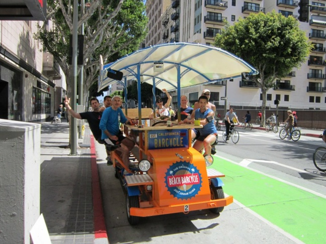 Enjoy CicLAvia from the bar. Rent a Beach Barcycle from Venice and take it all the way downtown. Courtesy of Beach Barcycle