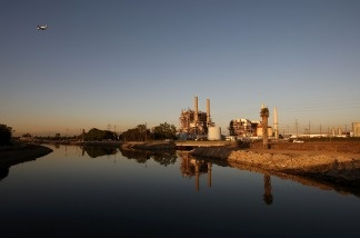 The AES natural gas power station stands on October 1, 2009 in Long Beach; at that time, the Obama administration authorized the Environmental Protection Agency to move forward on enacting new regulations on greenhouse gas emissions emitted from hundreds of power plants and large industrial facilities.