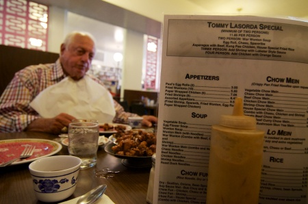 Tommy Lasorda at Paul's Kitchen 2