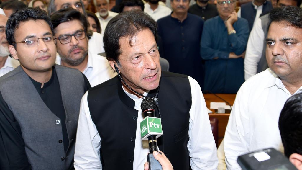 Former cricket star Imran Khan was sworn in as Pakistan's new prime minister on Saturday. One of his first challenges will be shoring up the country's economy.