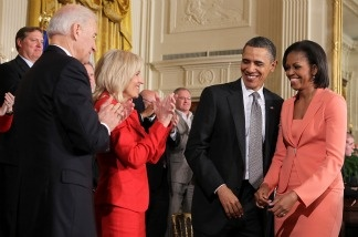 The White House released tax returns for President Barack Obama and first lady Michelle Obama and for Vice President Joe Biden and his wife Jill Biden on April 18, 2011, the deadline for Americans to file.