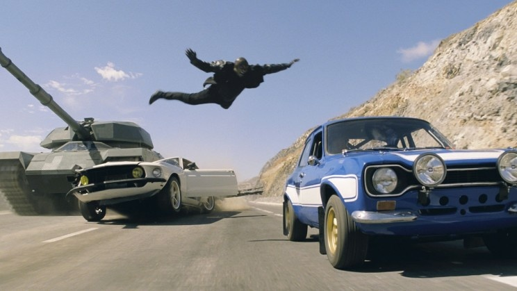 A stunt in the film