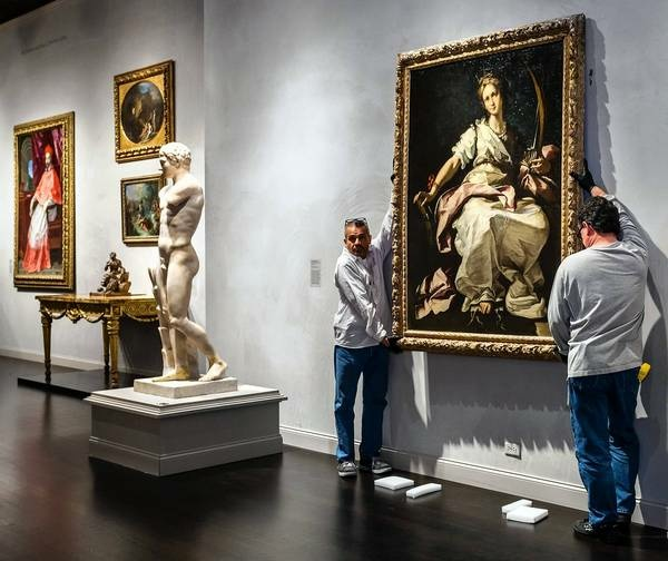 Five years after a Nazi-looted Italian Baroque masterpiece turned up on the art market, first in Vienna and then in Milan, the painting has been returned to its Los Angeles owner. w/image of the art. The life-size figure of St. Catherine of Alexandria, painted in Genoa around 1615 by Bernardo Strozzi, was installed Monday in the third floor galleries for European art at the Los Angeles County Museum of Art. The painting, valued at between $2.5 million and $3 million, is a promised gift to the museum, where it vaults to the top tier of 22 Italian Baroque paintings in LACMA's collection. It is highly unusual for a painting plundered from a private party to directly enter a museum collection, rather than for it to be sold to settle claims from multiple heirs. The restitution of the Strozzi was made to the original owner's sole heir, who is making the gift.
