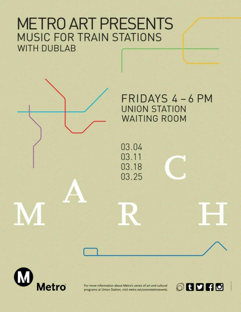 "A flyer for Metro's ""Music for Train Stations"" series."