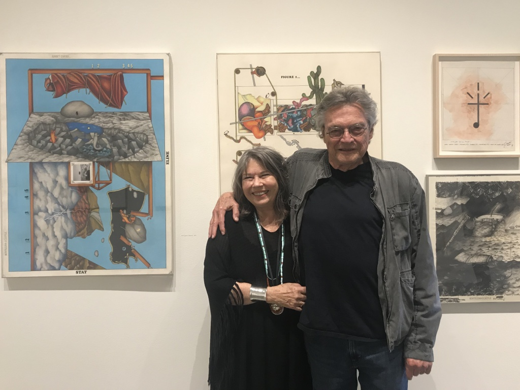 Jo Harvey and Terry Allen at his exhibition at L.A. Louver gallery in Venice.