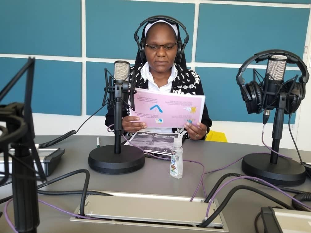Sister Astridah Banda produces a live radio show called