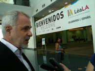 Raul Padilla Lopez is president of the Guadalajara International Book Fair. The university foundation he leads is spending $1.2 million to put on LeaLA Friday through Sunday at the L.A. Convention Center. The book fair will feature books from 100 publishers, mostly from Latin American publishers.