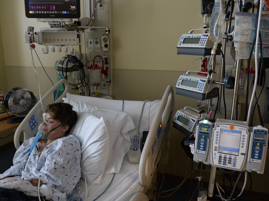 13-year-old Will Cornejo of Lone Tree, Colo., recovers at Rocky Mountain Hospital for Children in Denver from what doctors suspect is enterovirus D68.