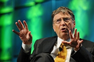 Bill Gates, co-chairman and trustee of the Bill and Melinda Gates Foundation, speaks at the Washington Convention Center in Washington.