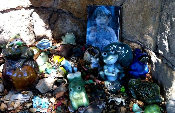 The Santa Barbara Frog Shrine, on Paterna Road, in the Riviera neighborhood.