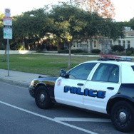 LAUS Police Car at Mark Twain Middle School