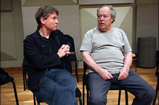 LA Phil maestro Esa-Pekka Salonen (L) with his mentor, Jorma Panula.