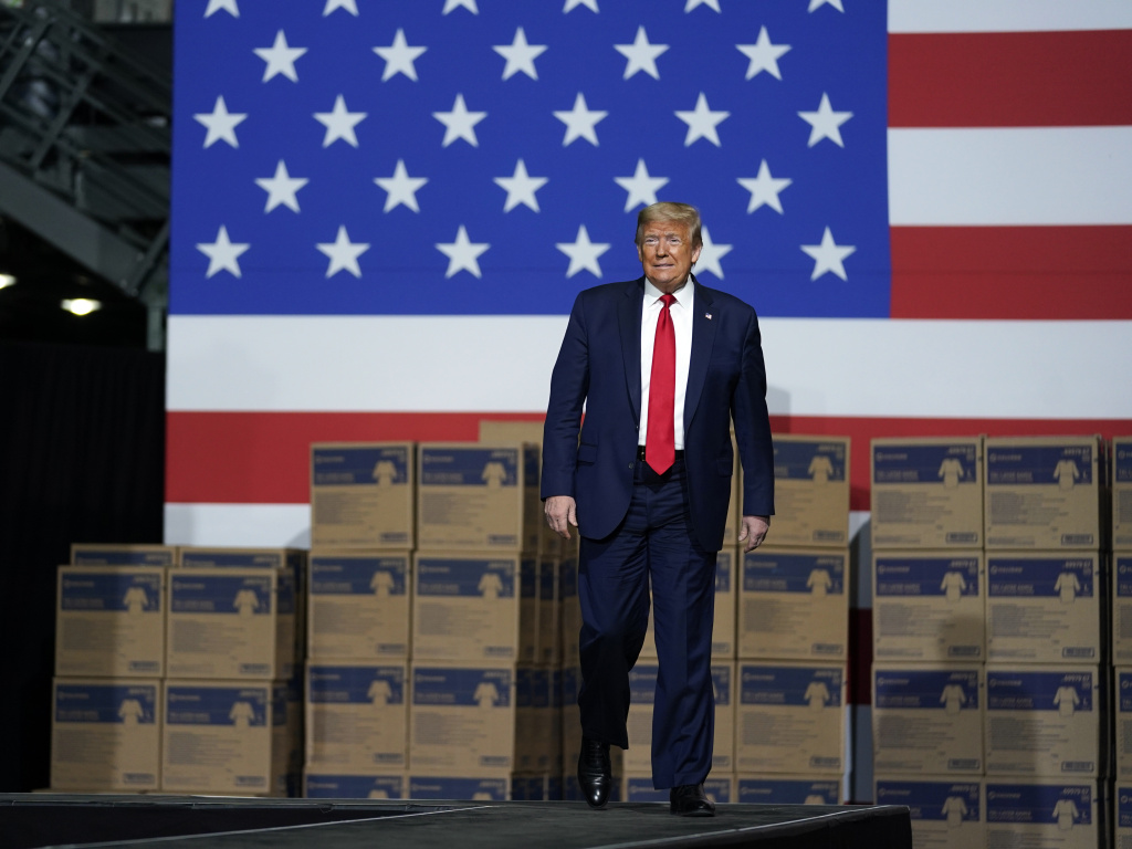 President Trump announced the new role for the Development Finance Corp. in May while touring Owens & Minor Inc., a medical supply company in Allentown, Pa.