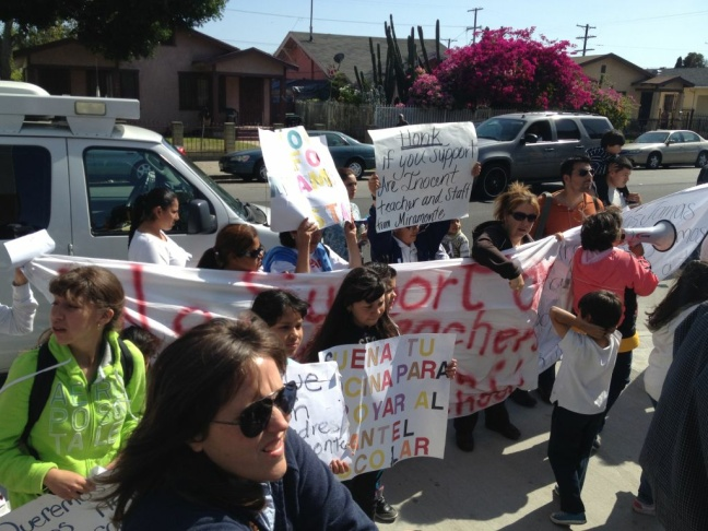 Miramonte teachers march