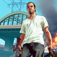 Promotional material for Grand Theft Auto V.