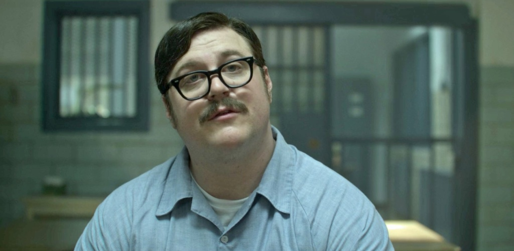 Actor Cameron Britton, who plays serial killer Edmund Kemper on the Netflix show Mindhunter.