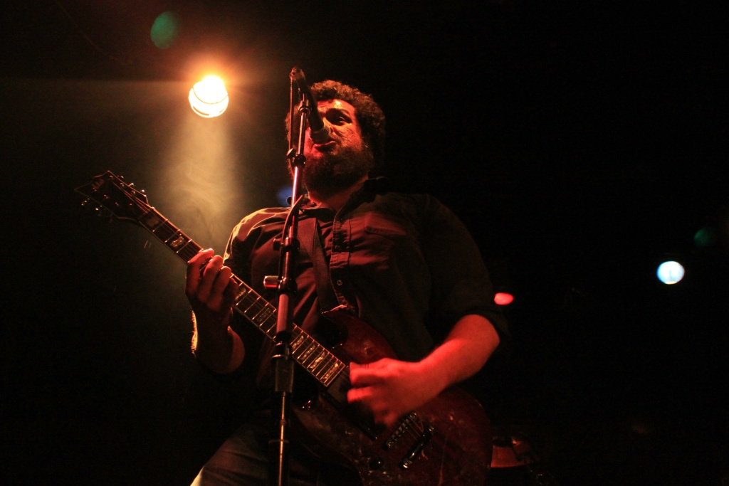 Eddie Solis of hardcore punk power duo It's Casual performing at the Viper Room in Los Angeles.