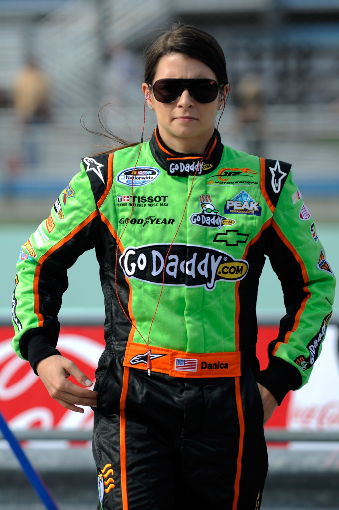 GoDaddy is no longer supporting SOPA. It's sticking with Danica Patrick, however. (Photo by Jared C. Tilton/Getty Images)