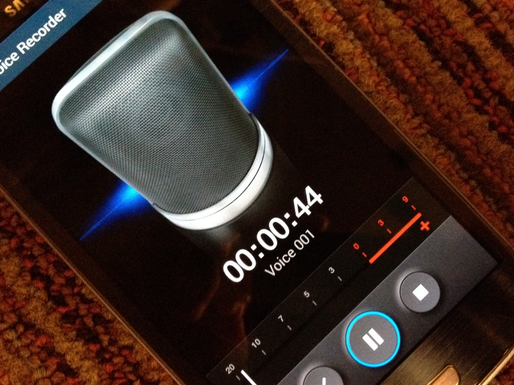 cell phone audio recording
