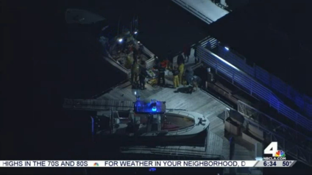 Redondo Beach firefighters responded late Wednesday after witnesses reported people in the water calling for help at King Harbor.