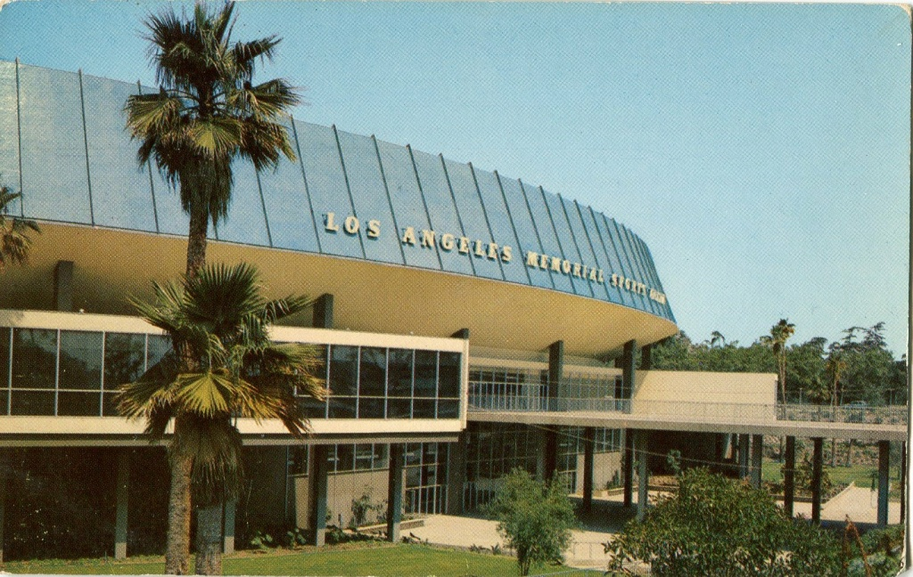 Los Angeles Memorial Sports Arena, 'the newest and most modern sports arena in the country ... built at a cost of nearly six million dollars.