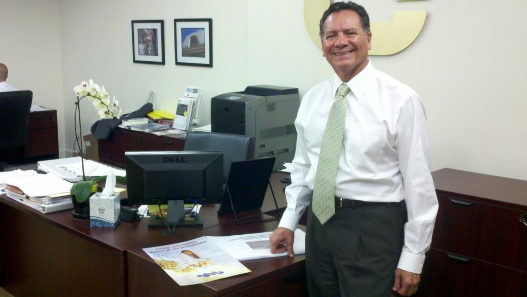 George Pla, president and CEO of Cordoba Corporation, the Southern California-based civil engineering firm that planned Endeavour's journey through the streets on Inglewood and South L.A.
